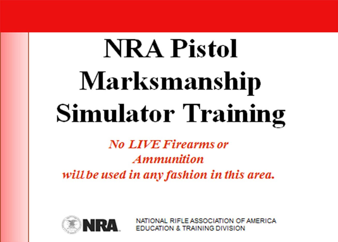 Nra Simco Pistol Laser Simulator Course Defensive Training Solutions