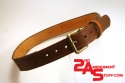 Two-tone leather belt (black and brown) wlogo